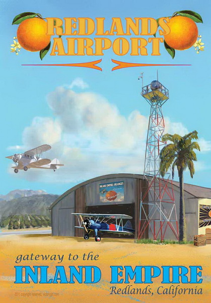 redlands airport poster
