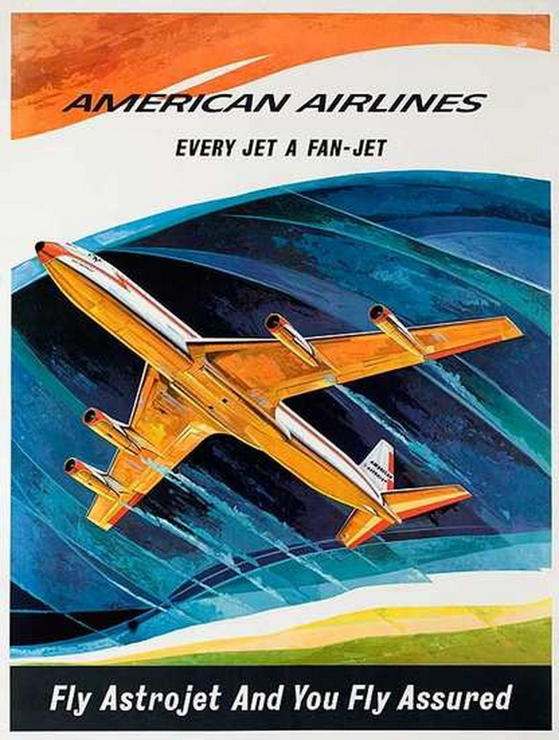 american airlines fan jets ad