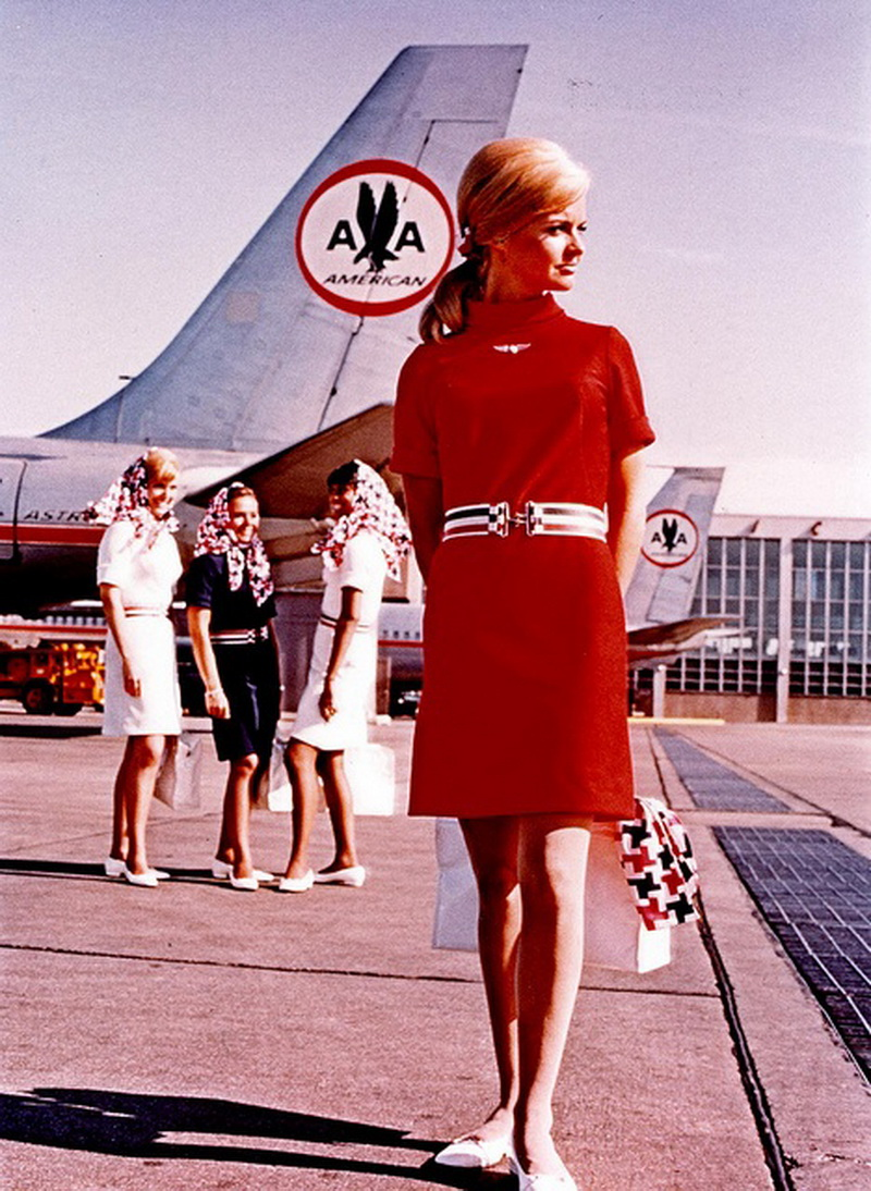 american airlines flight attendant 1960s