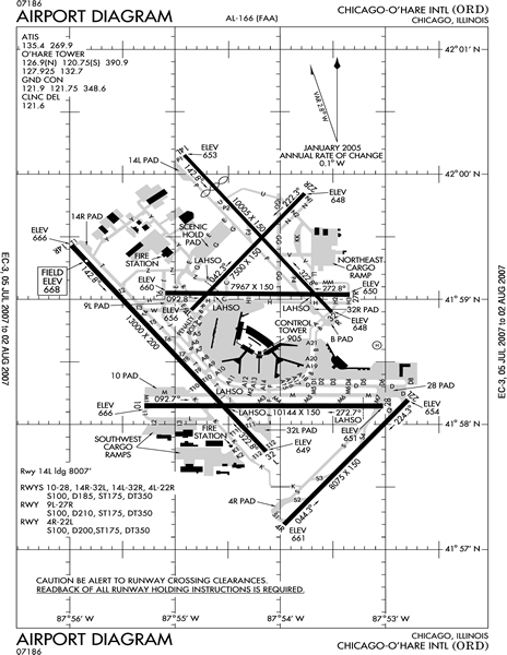 faa pilot book airport chicago ohare airport map