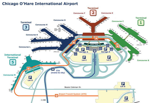 chi-ohare airport map